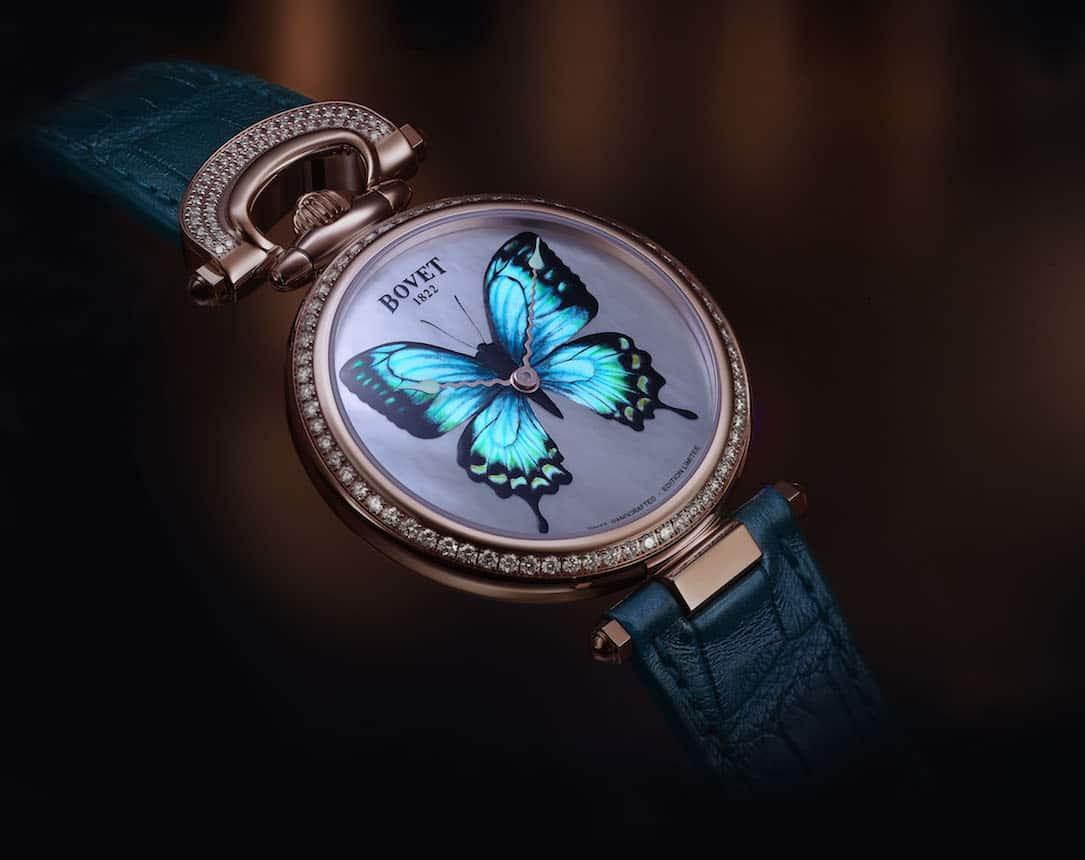 "Luminoso reloj BOVET ""Château de Môtiers 40 Papillon"" hace su debut mundial"