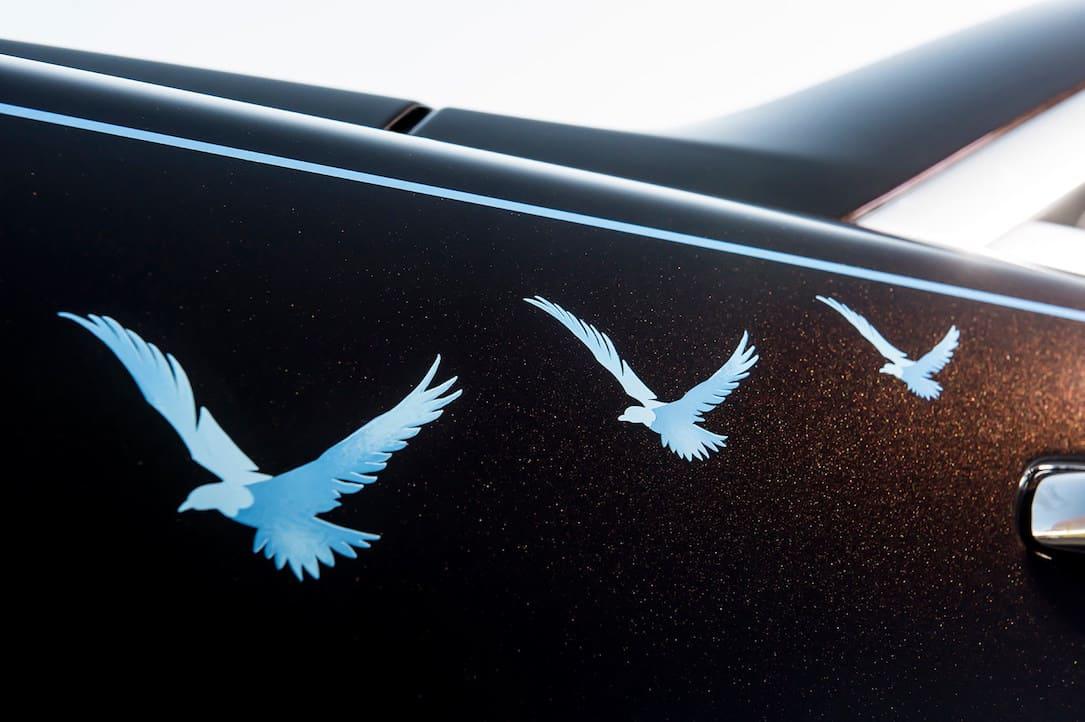 Este muy especial Rolls-Royce Wraith se inspiró en la música británica