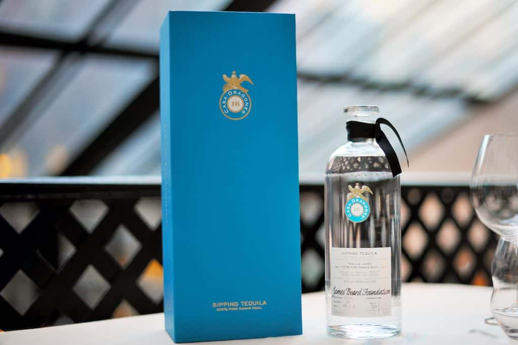 Tequila Casa Dragones marida original menú en la James Beard Foundation en Nueva York