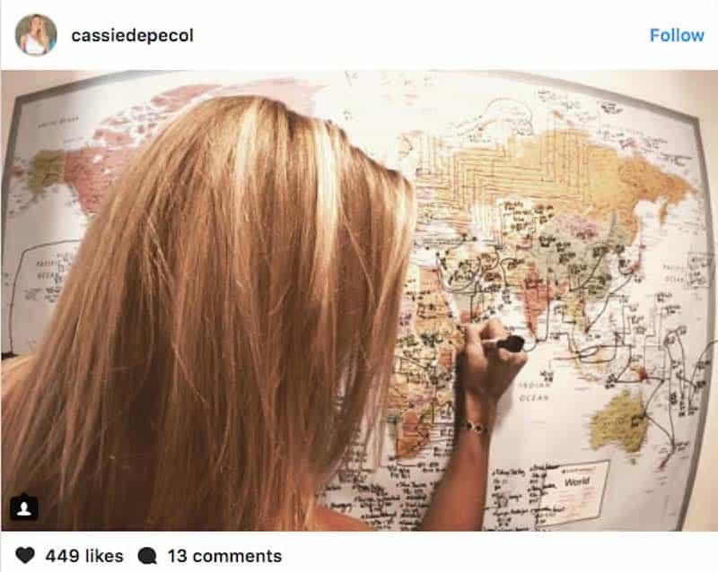 Cassie De Pecol se convierte en la primera mujer en visitar todos los 196 países del mundo