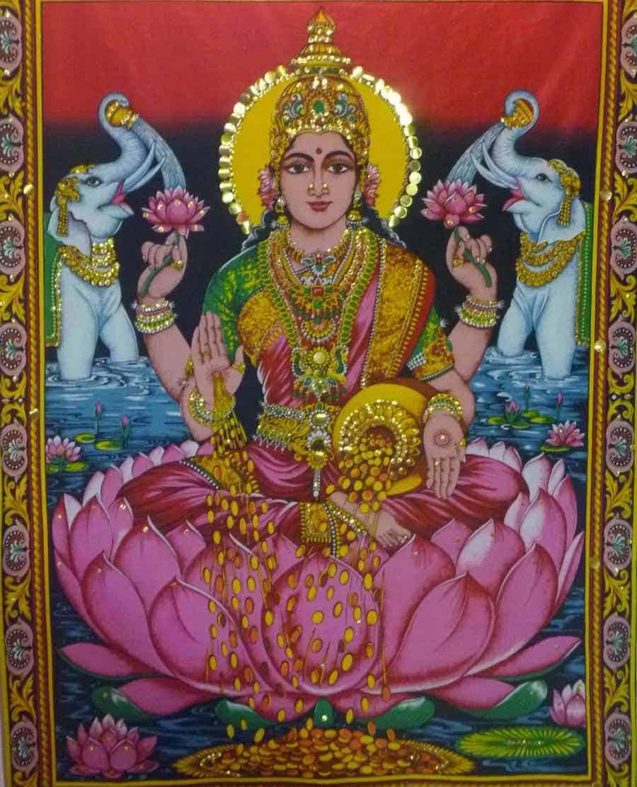 Lakshmi, diosa de la fortuna hindú