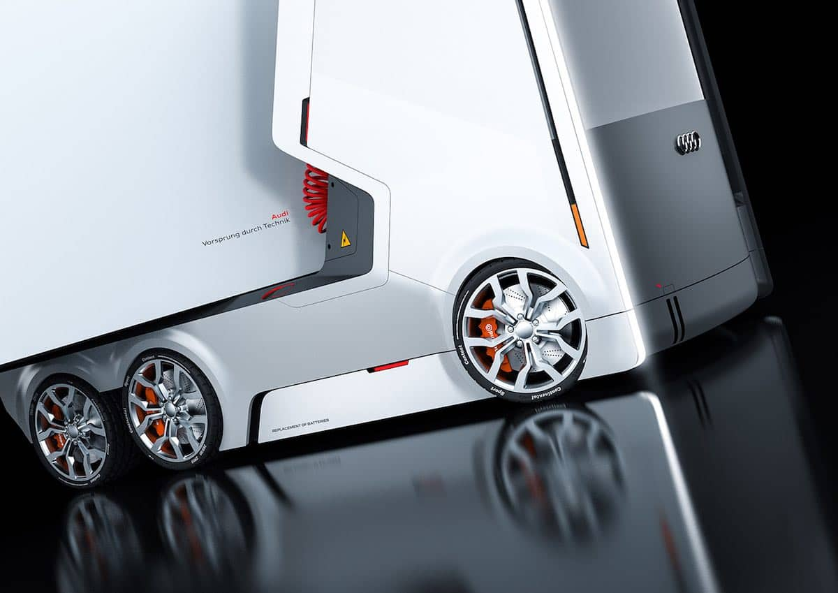 ¡Alucinante! ¿Te imaginas cómo luciría un camión eléctrico de Audi?