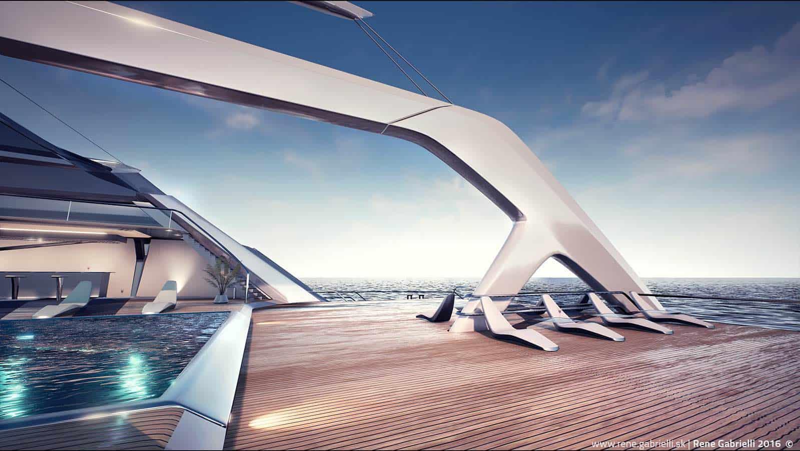 ECO: Catamarán concepto por Rene Gabrielli