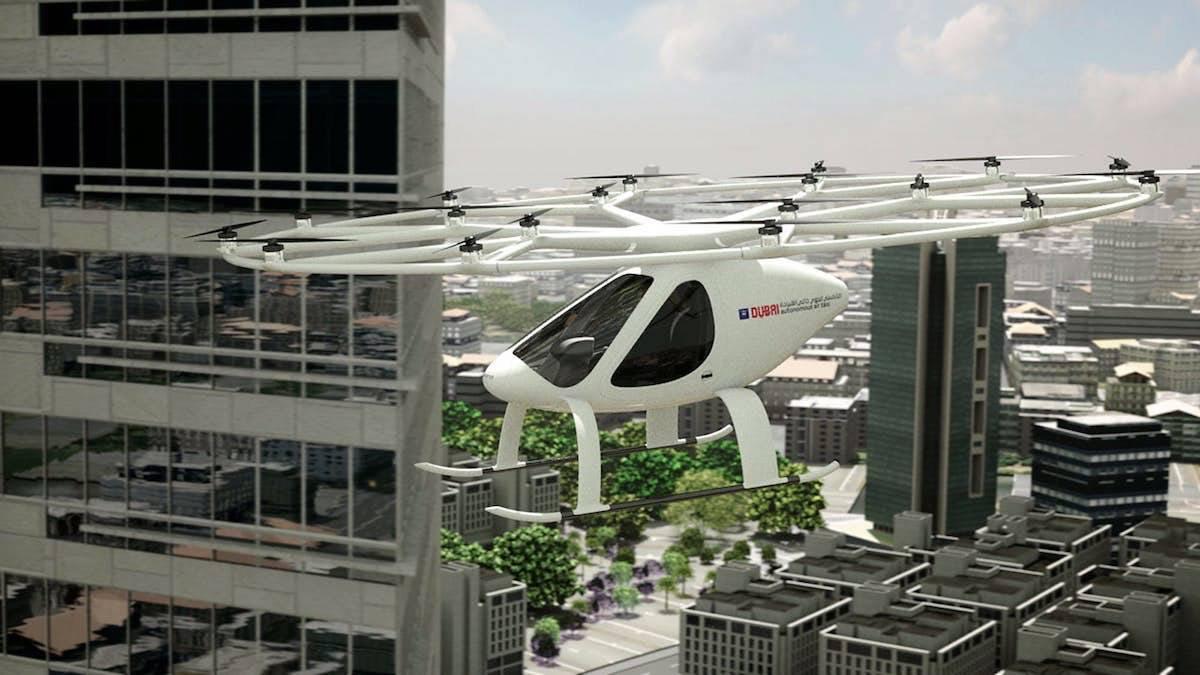 Dubai iniciará las primeras pruebas de taxis aéreos autónomos a finales de este año con el Volocopter