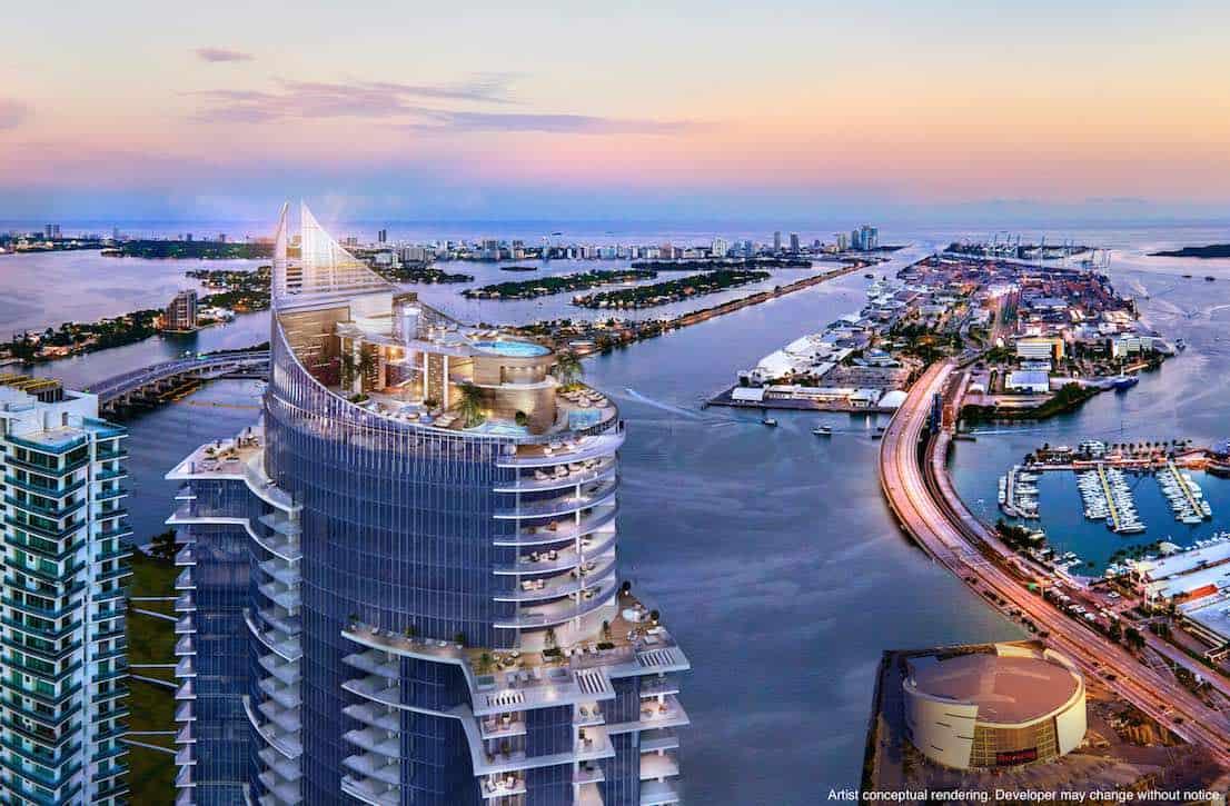 Mega proyecto Paramount Miami WorldCenter pone a la venta un ultra exclusivo penthouse por $9,5 millones