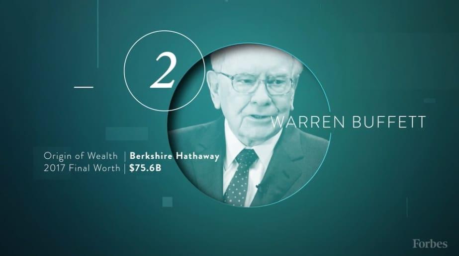 Lista de billonarios de Forbes: Warren Buffett