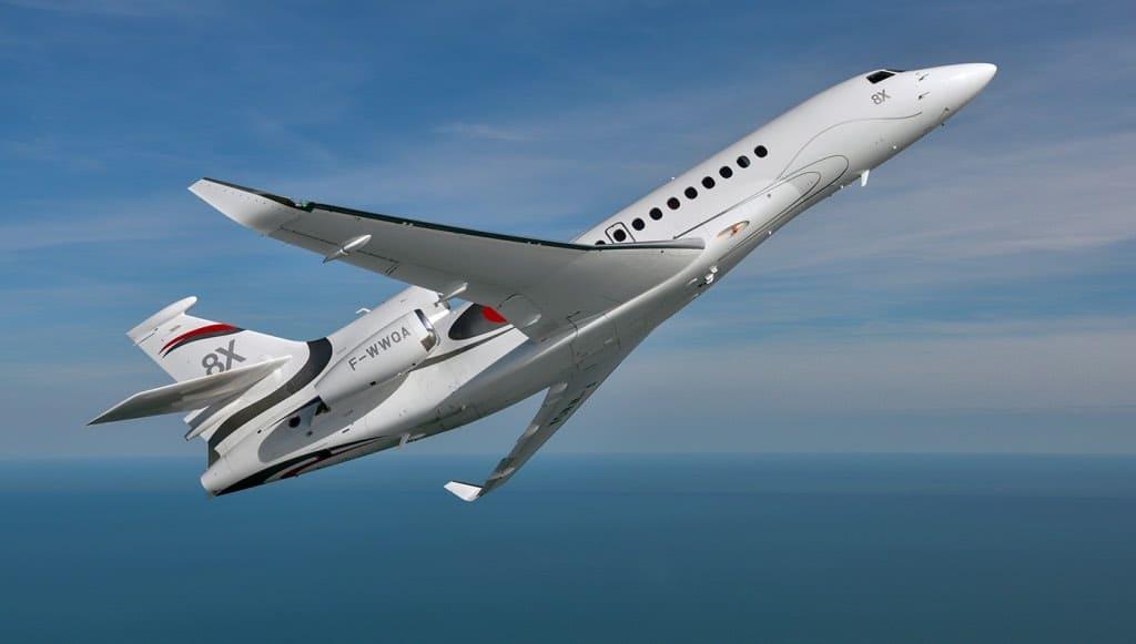 El primer Dassault Falcon 8X está listo para surcar los cielos