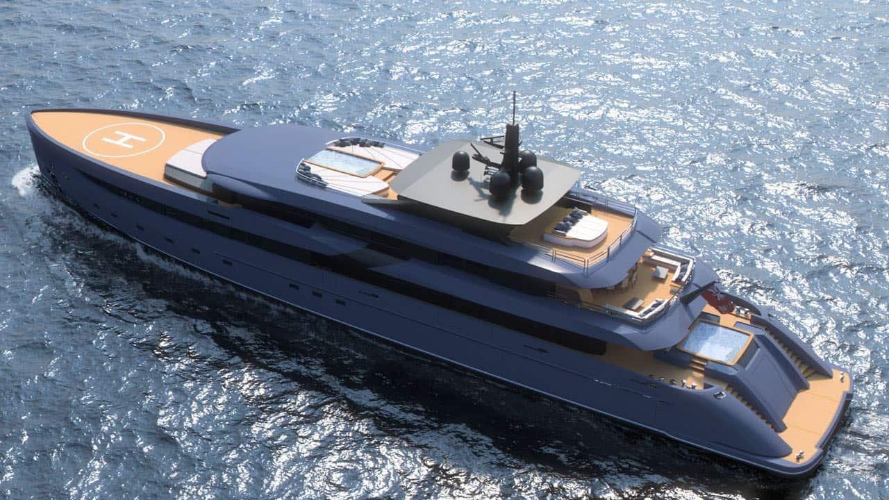 Marco Ferrari presenta su más reciente proyecto: F65, un nuevo concepto de super yate de 65.6 metros