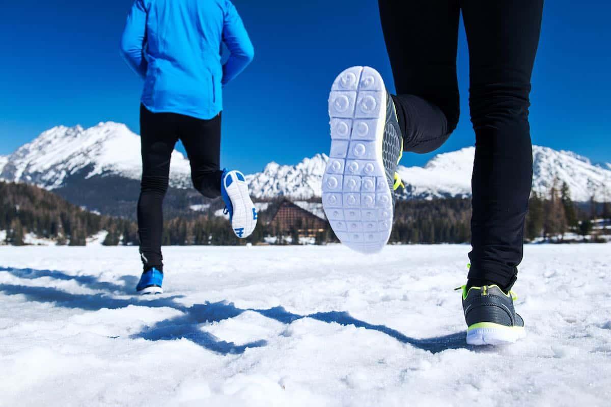Correr aire libre en invierno