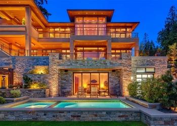 Esta ultra lujosa mega propiedad frente a un lago en Bellevue, Washington se vende por $13 Millones