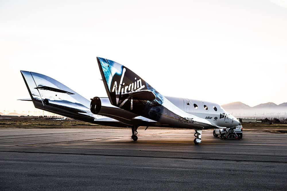 """La nueva nave espacial de Virgin Galactic """"VSS Unity"""" es el más reciente intento de la compañía para sus viajes espaciales"""