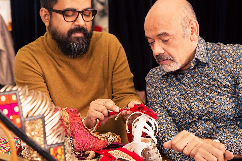 Christian Louboutin colabora con Sabyasachi Mukherjee para una hermosa colección de calzado