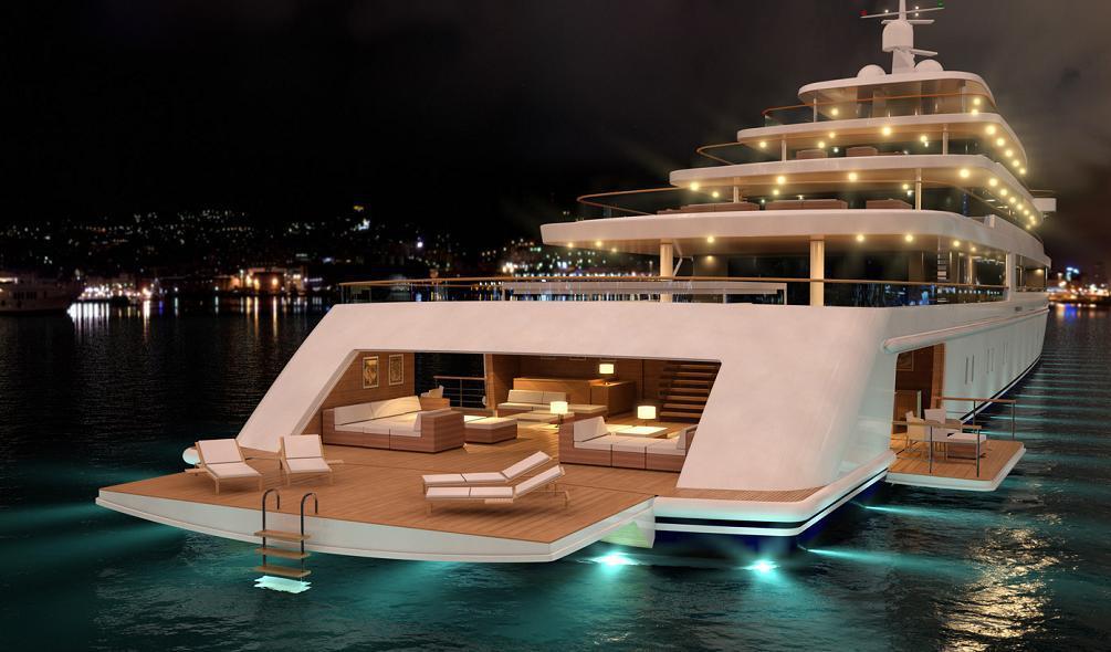 PROJECT LIGHT, un lujoso mega yate de 90 metros por Nauta Yachts
