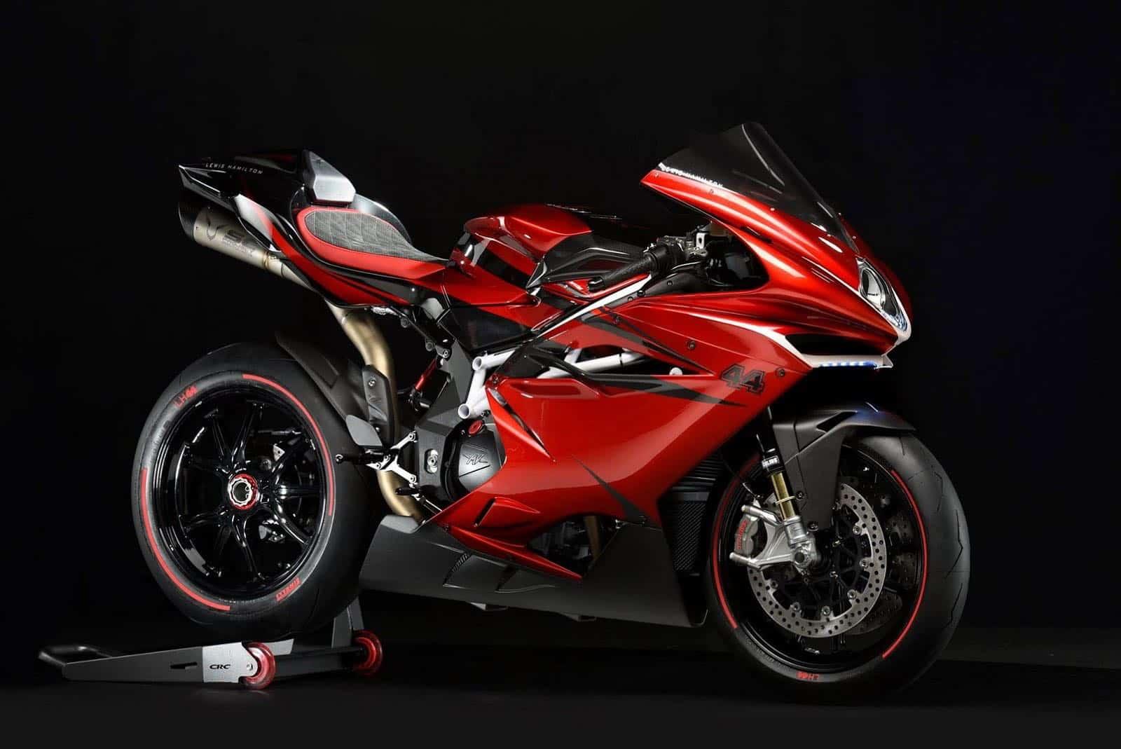 MV Agusta lanza la motocicleta F4 LH44 y el campeón Lewis Hamilton le da el visto bueno