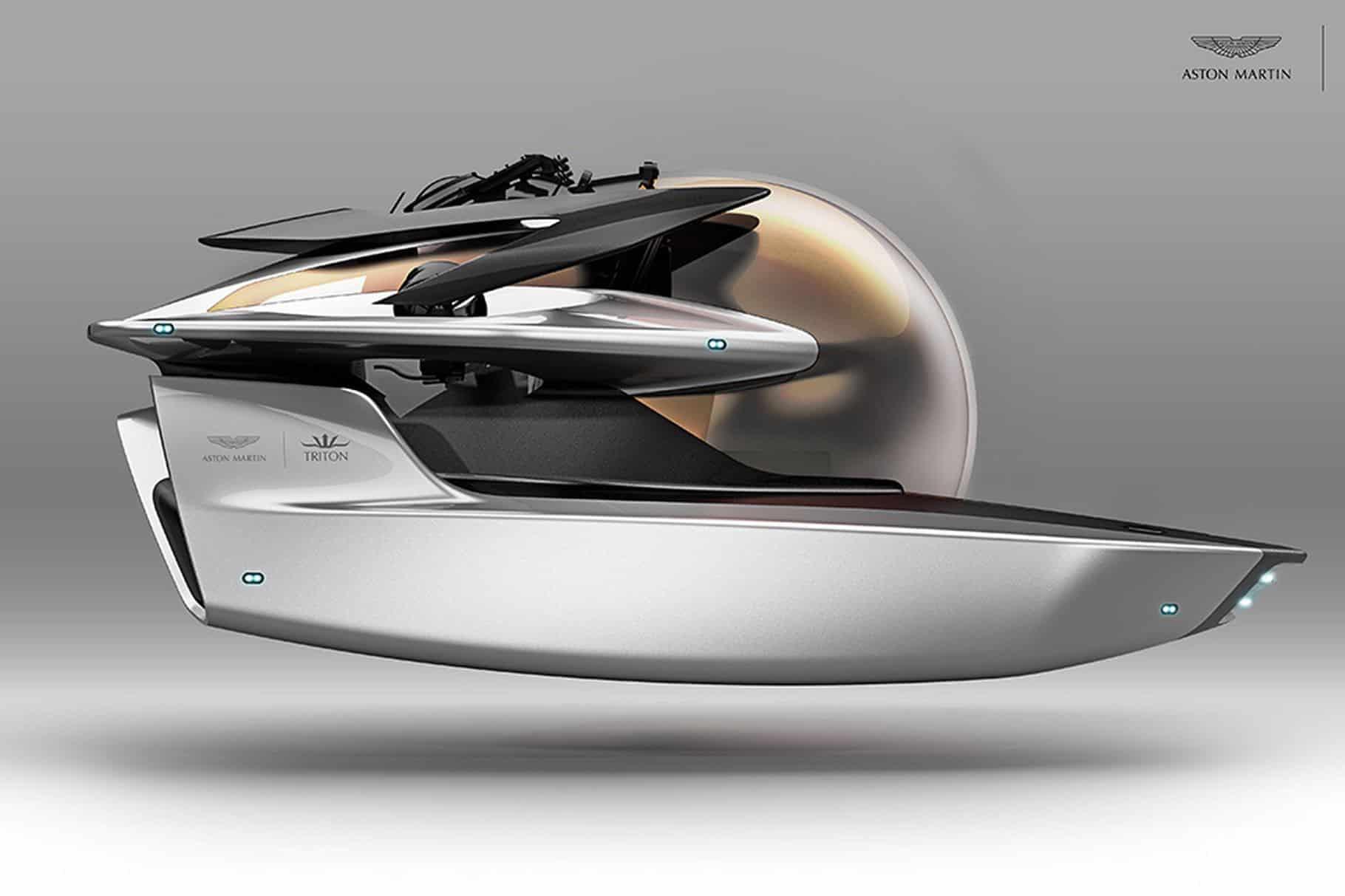 La línea de yates de lujo de Aston Martin ahora incluye un submarino para 3 personas de $4 millones