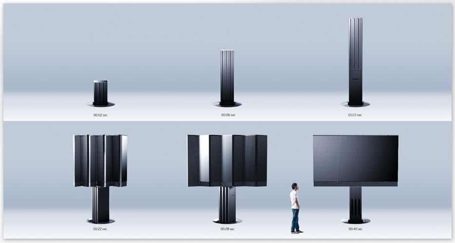 C SEED 201: Este gigantesco televisor LED se esconde bajo el suelo cuando no está en uso
