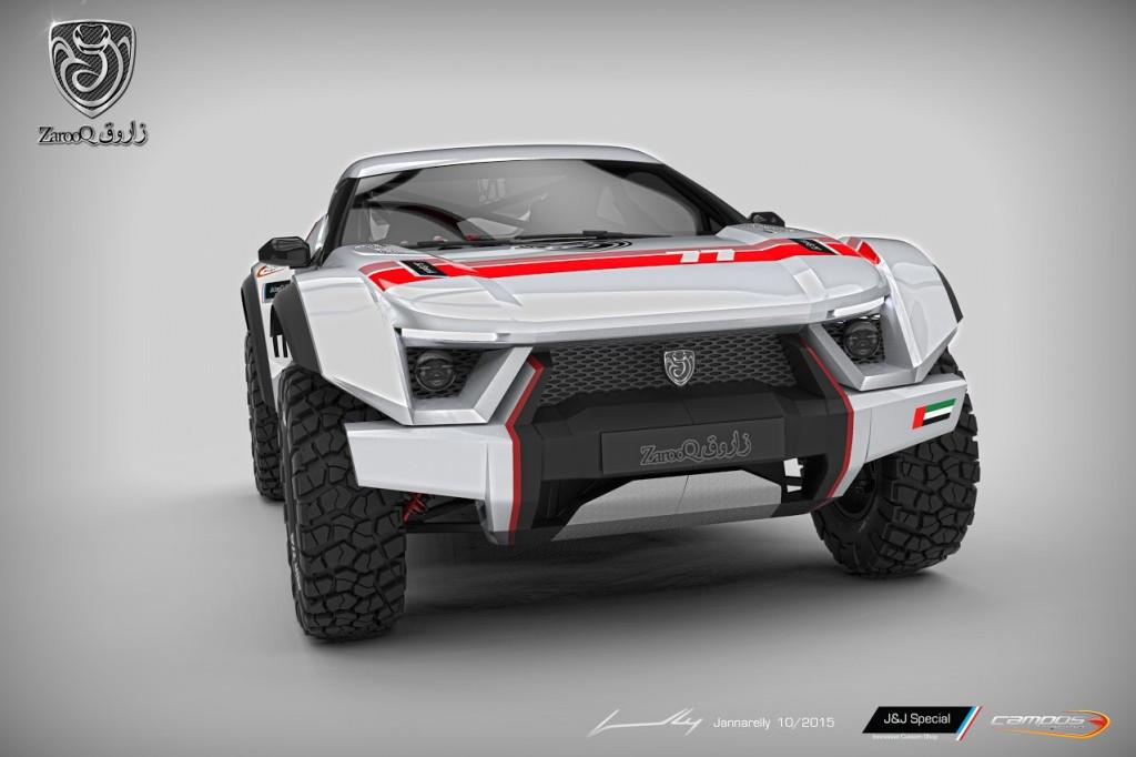 ZAROOQ Sand Racer: Poderoso todoterreno de carreras, hecho tanto para el desierto como para el pavimento