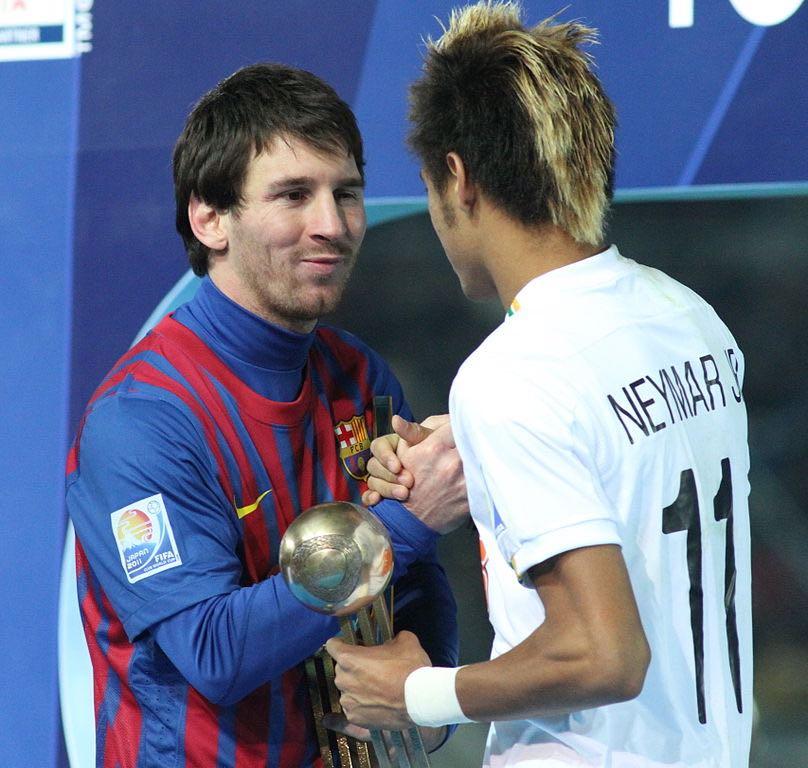 Messi con Neymar