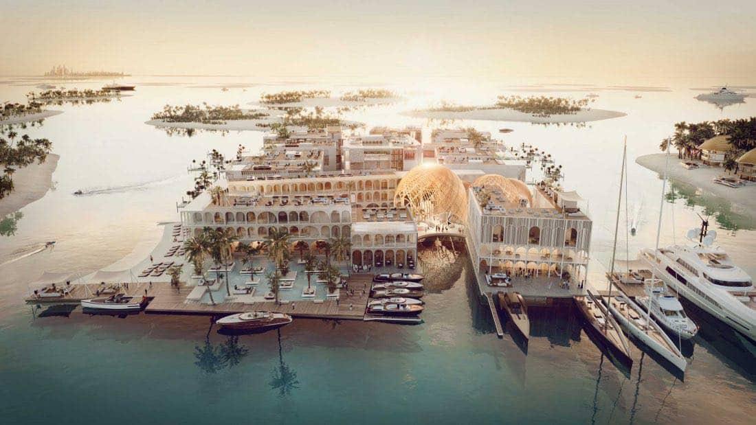 La bella Venecia de Dubái: Así es el primer resort flotante de lujo