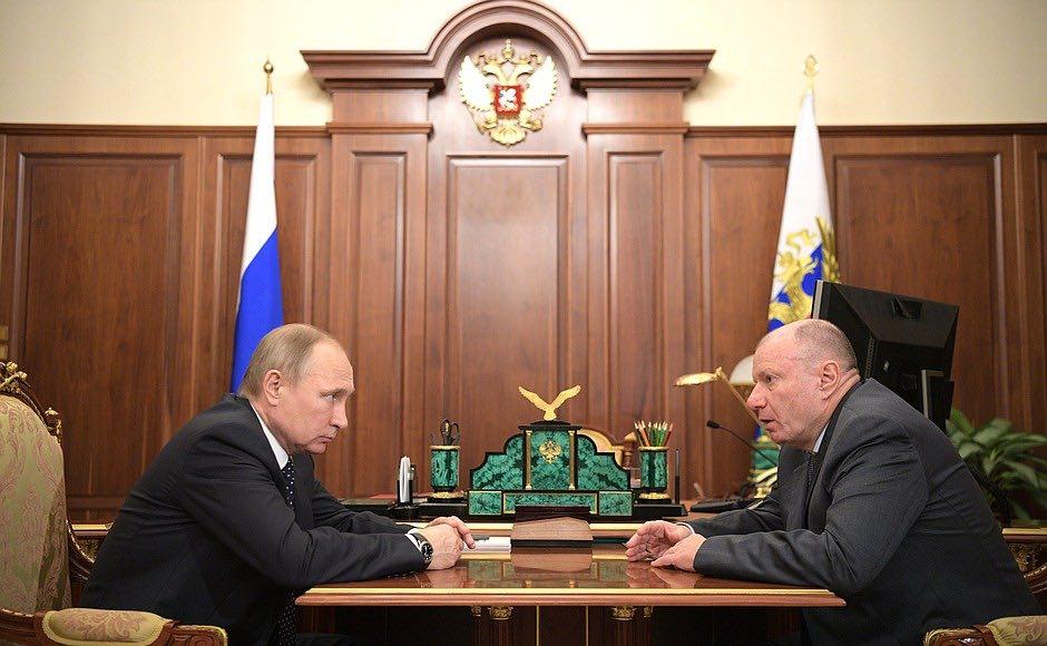 Vladimir Potanin y Vladimir Putin