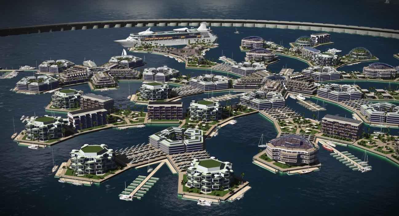 Presentan plan para la construcción de la primera ciudad flotante en el mundo