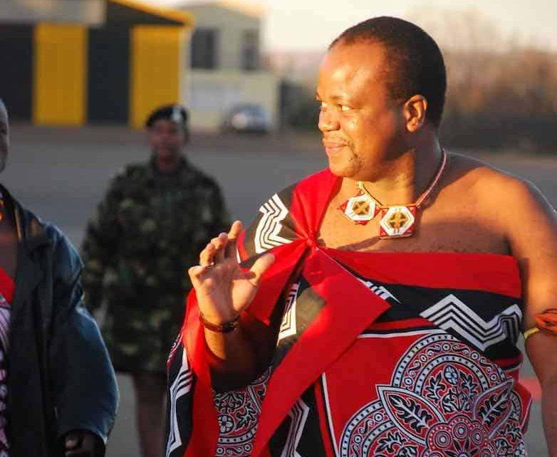 El Rey Mswati III de Swazilandia