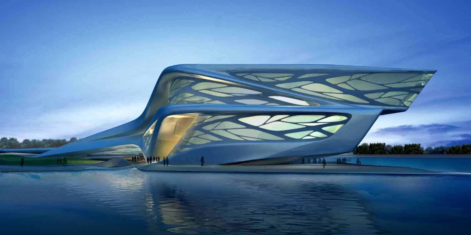 Centro de Artes Escénicas que Zahid diseño en Abu Dhabi