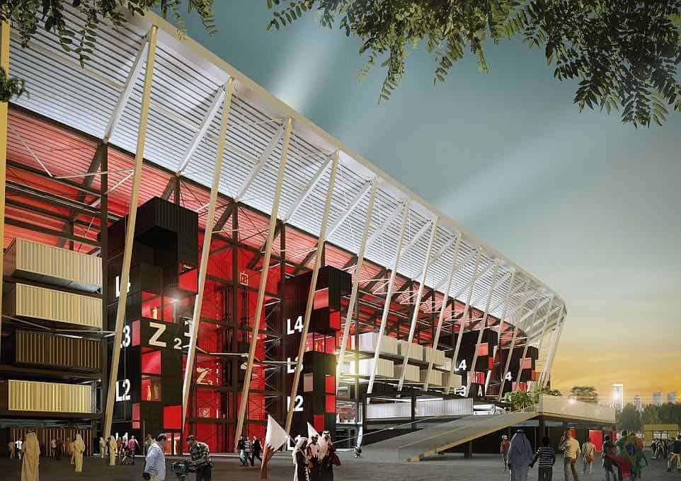 Impresionantes imágenes revelan el diseño del estadio Ras Abu Aboud para el Mundial de Qatar 2022