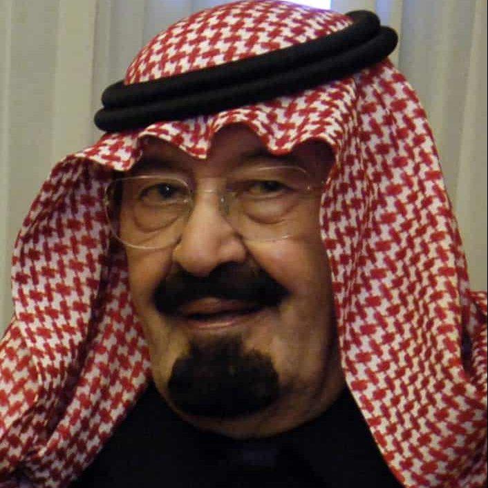 El Rey Abdullah bin Abdulaziz de Arabia Saudí