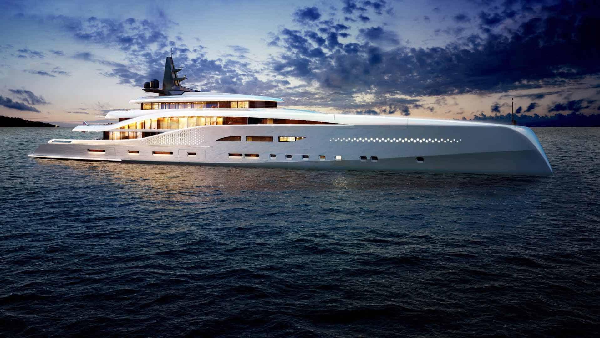 """Oceanco presenta su nuevo mega proyecto """"Stiletto"""", un súper yate de 107 metros"""