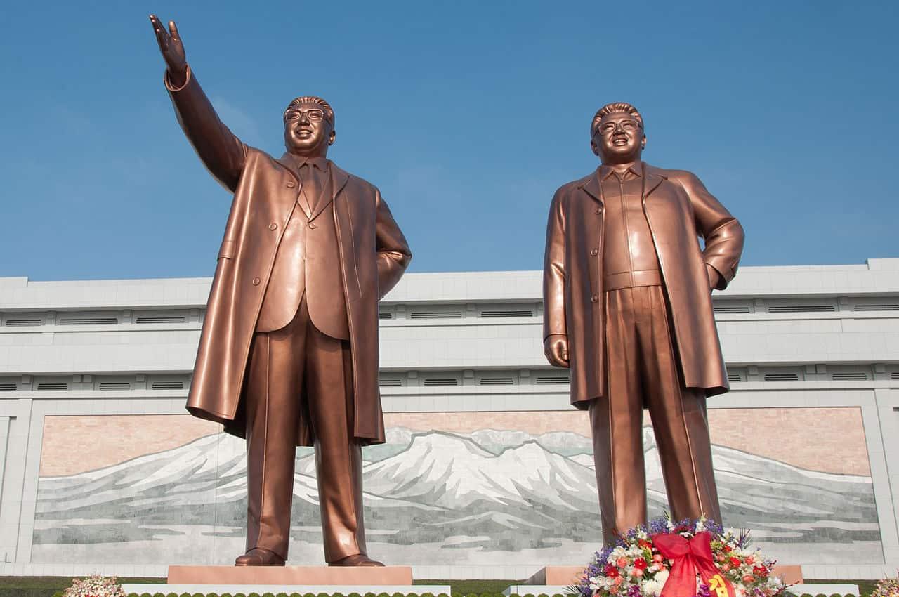 Kim Il-Sung y Kim Jong-Il