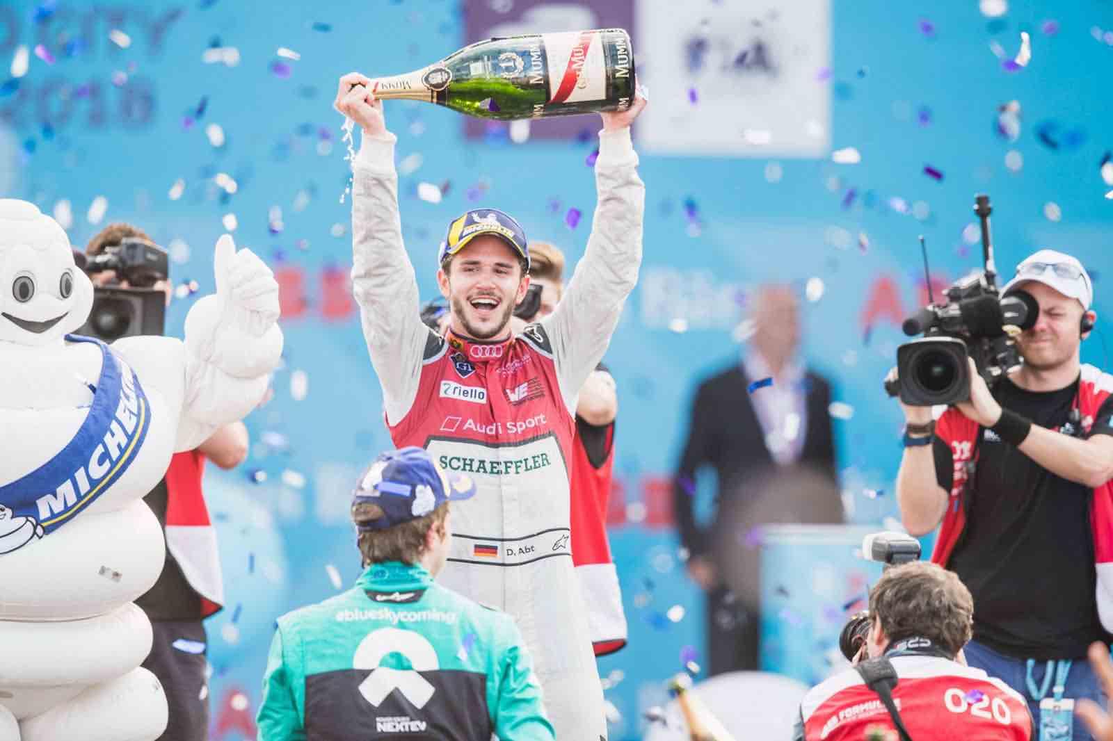 La Maison de champagne Mumm celebra a Daniel Abt, ganador en la Fórmula E en la Ciudad de México