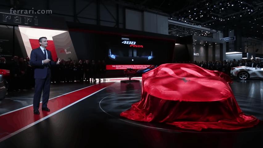 Presentación del Ferrari 488 Pista