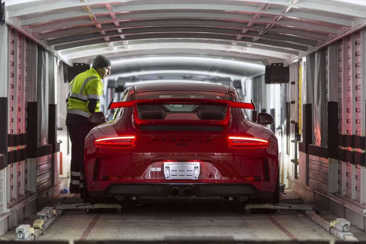 Porsche reduce las emisiones de CO2 gracias al transporte logístico sostenible