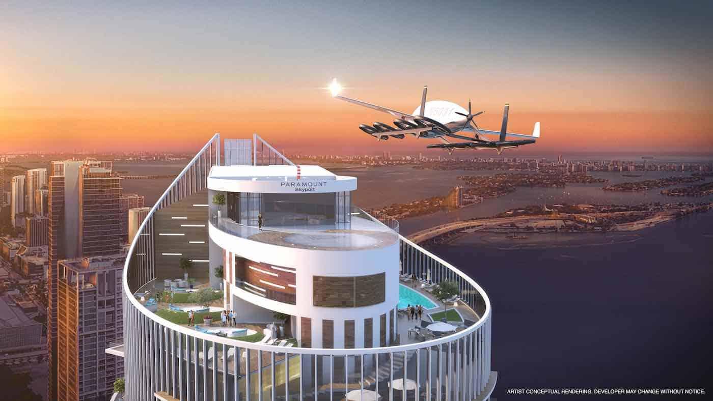 PARAMOUNT Miami Worldcenter se prepara para el futuro de los coches voladores