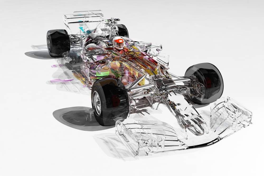 Coches de carreras Fórmula uno
