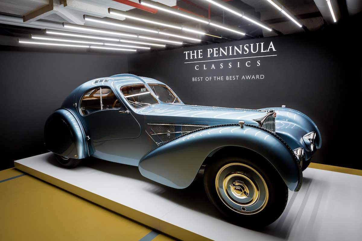 "Bugatti Type 57SC Coupé Atlantic 1936 gana la tercera edición anual de The Peninsula Classic ""Best of the Best"" Award"