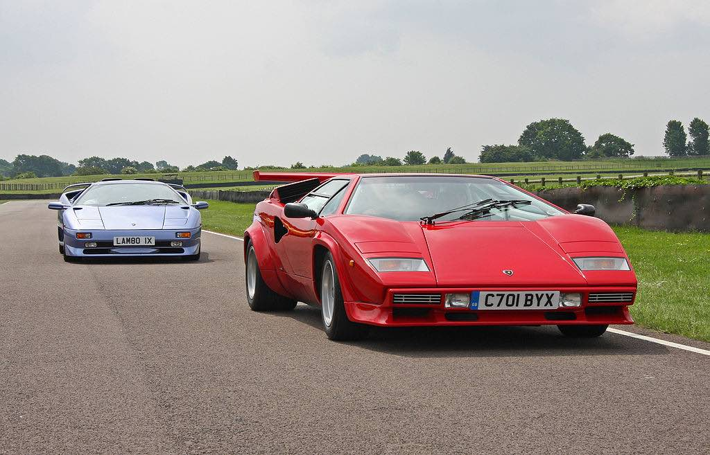 Lamborghini Diablo SV y Lamborghini Countach LP5000 QV