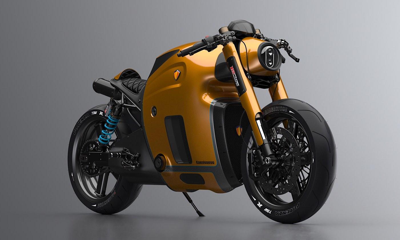 Motocicleta Koenigsegg por Burov Art