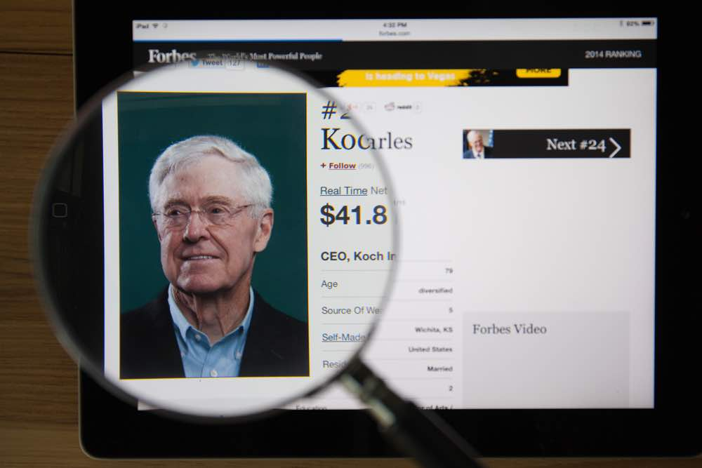 Las 10 personas más ricas del mundo 2018: Charles Koch