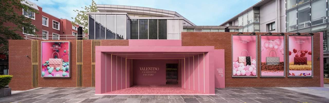 Valentino abre la tienda pop-up Candystud Factory en Beijing