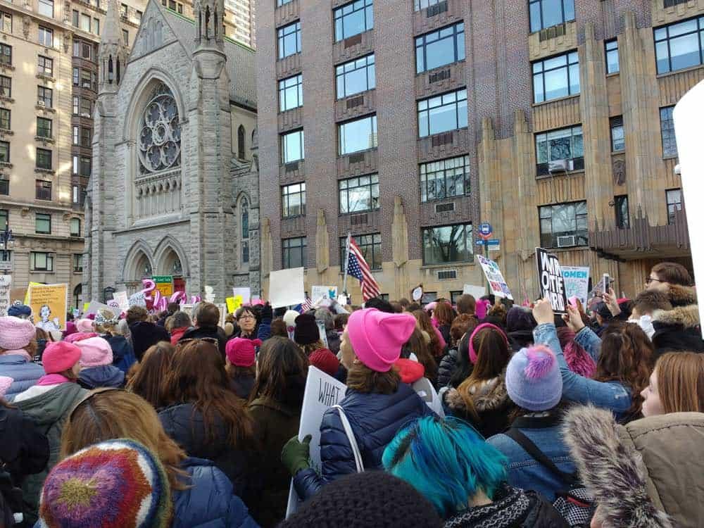 Manifestación en Nueva York