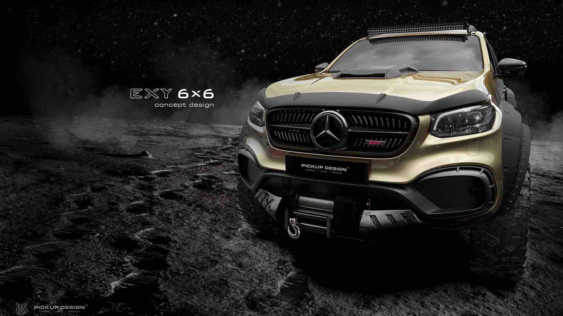 Concepto Mercedes X-Class EXY 6x6 por Carlex Design