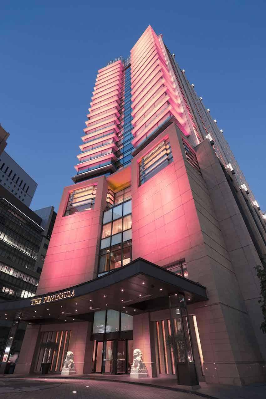The Peninsula Tokyo se viste de rosa durante el mes de sensibilización sobre el cáncer de mama