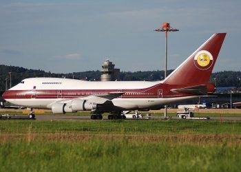 Boeing 747-8, avión privado de la familia real de Qatar