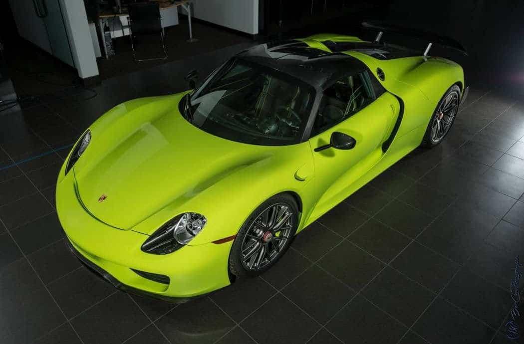 """Este Porsche 918 Spyder """"ACID GREEN"""" de $3 millones busca un nuevo dueño"""