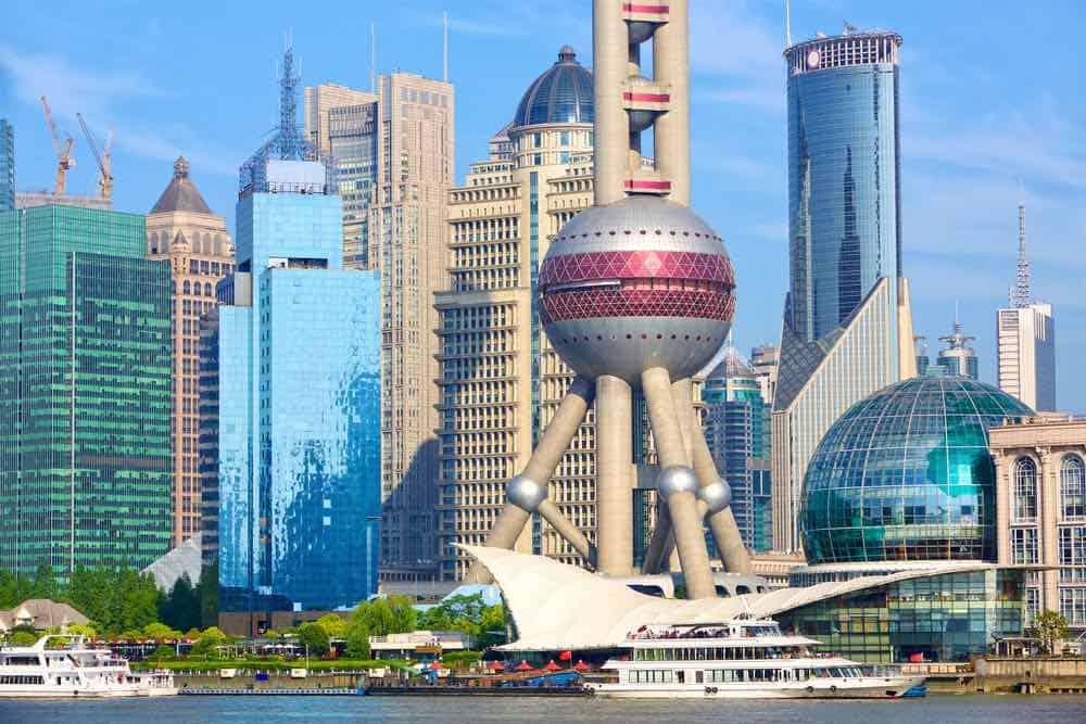 Rascacielos en Pudong, Shanghai, China