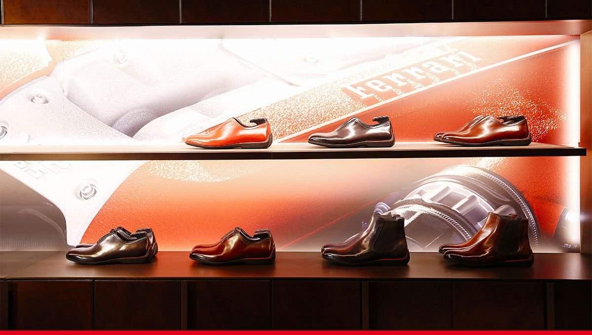 BERLUTI colabora con Ferrari en una exclusiva línea de zapatos de edición limitada para sus fans