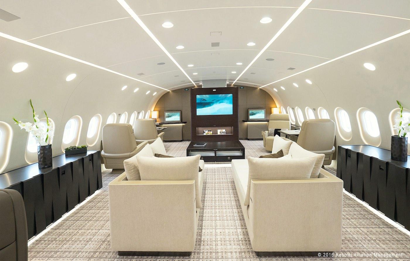 Boeing 787-8: Conoce cuáles son los 10 jets privados más lujosos en el mercado y cuánto cuestan.