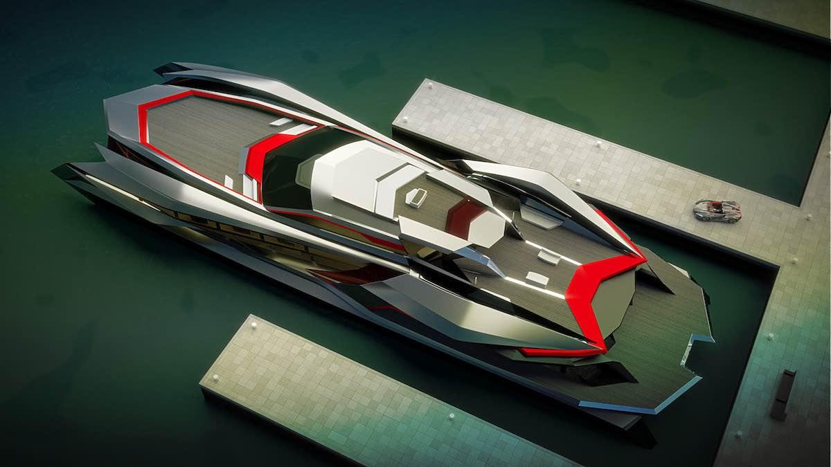 KRAKEN: Este monstruoso yate de 200 pies y 4 niveles por Gray Design viene con su propio superdeportivo